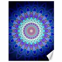 Power Flower Mandala   Blue Cyan Violet Canvas 36  X 48   by EDDArt