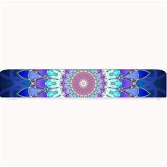 Power Flower Mandala   Blue Cyan Violet Small Bar Mats by EDDArt
