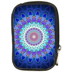 Power Flower Mandala   Blue Cyan Violet Compact Camera Cases by EDDArt