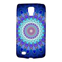 Power Flower Mandala   Blue Cyan Violet Galaxy S4 Active by EDDArt