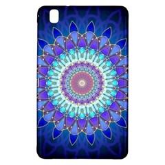 Power Flower Mandala   Blue Cyan Violet Samsung Galaxy Tab Pro 8 4 Hardshell Case by EDDArt
