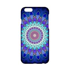 Power Flower Mandala   Blue Cyan Violet Apple Iphone 6/6s Hardshell Case by EDDArt