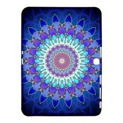 Power Flower Mandala   Blue Cyan Violet Samsung Galaxy Tab 4 (10 1 ) Hardshell Case  by EDDArt