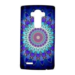 Power Flower Mandala   Blue Cyan Violet Lg G4 Hardshell Case by EDDArt