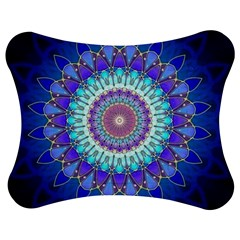 Power Flower Mandala   Blue Cyan Violet Jigsaw Puzzle Photo Stand (bow) by EDDArt