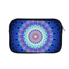 Power Flower Mandala   Blue Cyan Violet Apple Macbook Pro 13  Zipper Case by EDDArt