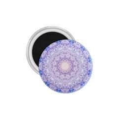 India Mehndi Style Mandala   Cyan Lilac 1 75  Magnets by EDDArt