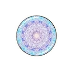 India Mehndi Style Mandala   Cyan Lilac Hat Clip Ball Marker by EDDArt
