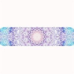 India Mehndi Style Mandala   Cyan Lilac Large Bar Mats by EDDArt