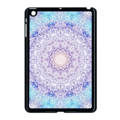India Mehndi Style Mandala   Cyan Lilac Apple Ipad Mini Case (black) by EDDArt