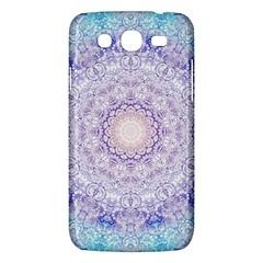 India Mehndi Style Mandala   Cyan Lilac Samsung Galaxy Mega 5 8 I9152 Hardshell Case  by EDDArt