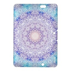 India Mehndi Style Mandala   Cyan Lilac Kindle Fire Hdx 8 9  Hardshell Case by EDDArt