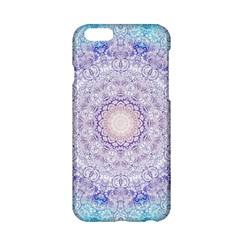 India Mehndi Style Mandala   Cyan Lilac Apple Iphone 6/6s Hardshell Case by EDDArt