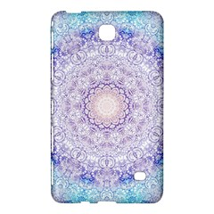 India Mehndi Style Mandala   Cyan Lilac Samsung Galaxy Tab 4 (8 ) Hardshell Case  by EDDArt
