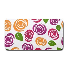 Colorful Seamless Floral Flowers Pattern Wallpaper Background Medium Bar Mats by Amaryn4rt