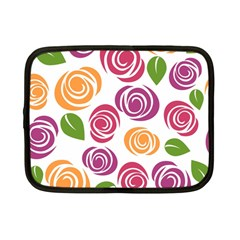 Colorful Seamless Floral Flowers Pattern Wallpaper Background Netbook Case (small)  by Amaryn4rt