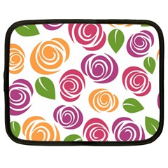 Colorful Seamless Floral Flowers Pattern Wallpaper Background Netbook Case (xxl)  by Amaryn4rt