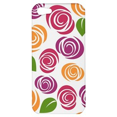 Colorful Seamless Floral Flowers Pattern Wallpaper Background Apple Iphone 5 Hardshell Case by Amaryn4rt
