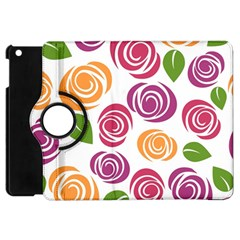 Colorful Seamless Floral Flowers Pattern Wallpaper Background Apple Ipad Mini Flip 360 Case by Amaryn4rt