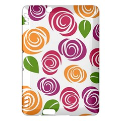 Colorful Seamless Floral Flowers Pattern Wallpaper Background Kindle Fire Hdx Hardshell Case by Amaryn4rt