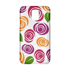 Colorful Seamless Floral Flowers Pattern Wallpaper Background Samsung Galaxy S5 Hardshell Case  by Amaryn4rt