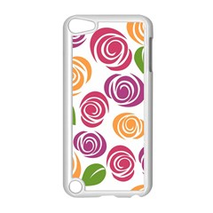 Colorful Seamless Floral Flowers Pattern Wallpaper Background Apple Ipod Touch 5 Case (white) by Amaryn4rt