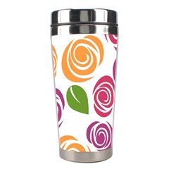 Colorful Seamless Floral Flowers Pattern Wallpaper Background Stainless Steel Travel Tumblers by Amaryn4rt