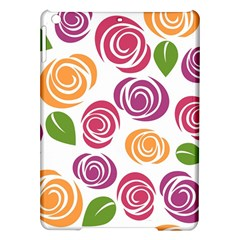 Colorful Seamless Floral Flowers Pattern Wallpaper Background Ipad Air Hardshell Cases by Amaryn4rt