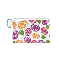 Colorful Seamless Floral Flowers Pattern Wallpaper Background Canvas Cosmetic Bag (s) by Amaryn4rt