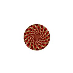 Fractal Red Petal Spiral 1  Mini Magnets by Amaryn4rt