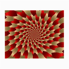 Fractal Red Petal Spiral Small Glasses Cloth (2 Side) by Amaryn4rt