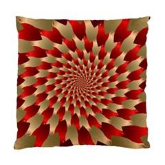 Fractal Red Petal Spiral Standard Cushion Case (one Side) by Amaryn4rt