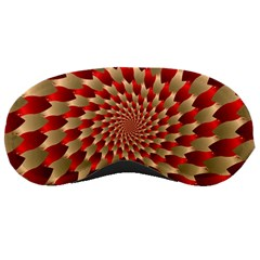 Fractal Red Petal Spiral Sleeping Masks by Amaryn4rt