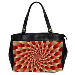 Fractal Red Petal Spiral Office Handbags (2 Sides)  by Amaryn4rt