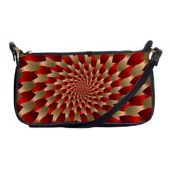 Fractal Red Petal Spiral Shoulder Clutch Bags by Amaryn4rt