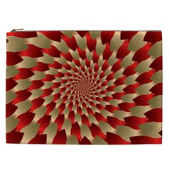 Fractal Red Petal Spiral Cosmetic Bag (xxl)  by Amaryn4rt