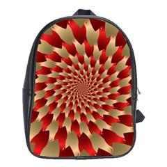 Fractal Red Petal Spiral School Bags (xl)  by Amaryn4rt