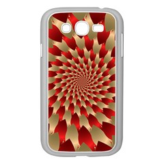 Fractal Red Petal Spiral Samsung Galaxy Grand Duos I9082 Case (white) by Amaryn4rt