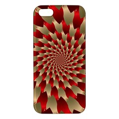 Fractal Red Petal Spiral Iphone 5s/ Se Premium Hardshell Case by Amaryn4rt