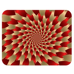 Fractal Red Petal Spiral Double Sided Flano Blanket (medium)  by Amaryn4rt
