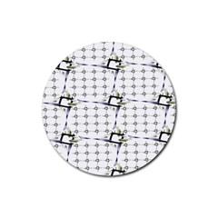 Fractal Design Pattern Rubber Coaster (round)  by Amaryn4rt
