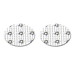 Fractal Design Pattern Cufflinks (Oval)