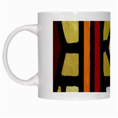 A Detail Of A Stained Glass Window White Mugs by Amaryn4rt