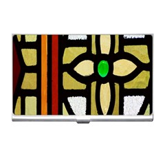 A Detail Of A Stained Glass Window Business Card Holders by Amaryn4rt
