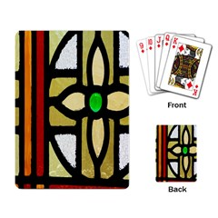 A Detail Of A Stained Glass Window Playing Card by Amaryn4rt