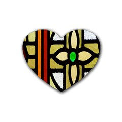 A Detail Of A Stained Glass Window Heart Coaster (4 Pack)  by Amaryn4rt