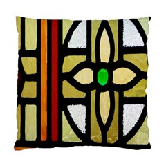 A Detail Of A Stained Glass Window Standard Cushion Case (one Side) by Amaryn4rt