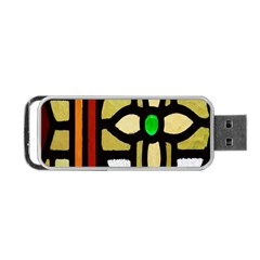 A Detail Of A Stained Glass Window Portable Usb Flash (one Side) by Amaryn4rt