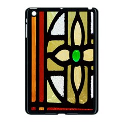 A Detail Of A Stained Glass Window Apple Ipad Mini Case (black) by Amaryn4rt