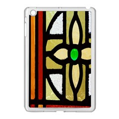 A Detail Of A Stained Glass Window Apple Ipad Mini Case (white) by Amaryn4rt
